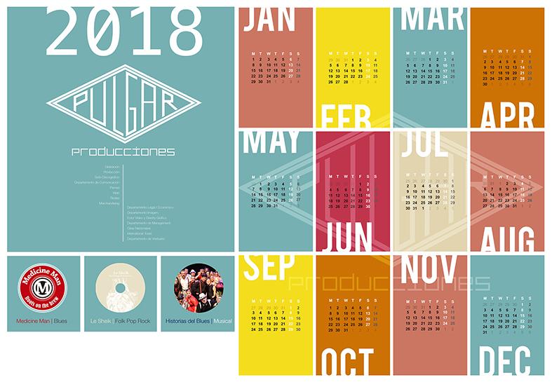 Calendario 2018 Pulgar Producciones