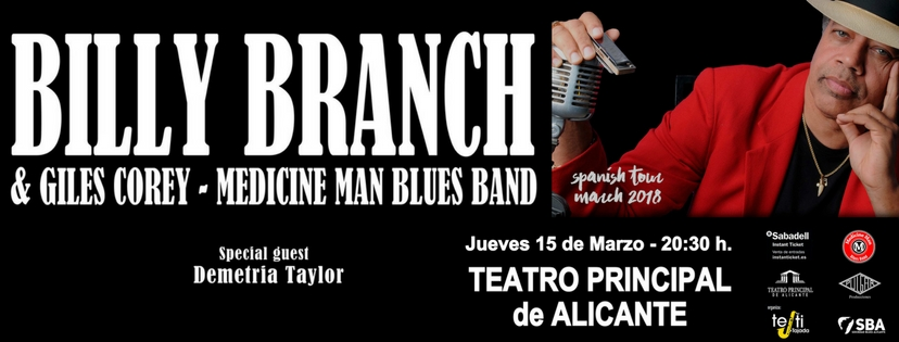 BILLY BRANCH & BLUES BAND en concierto