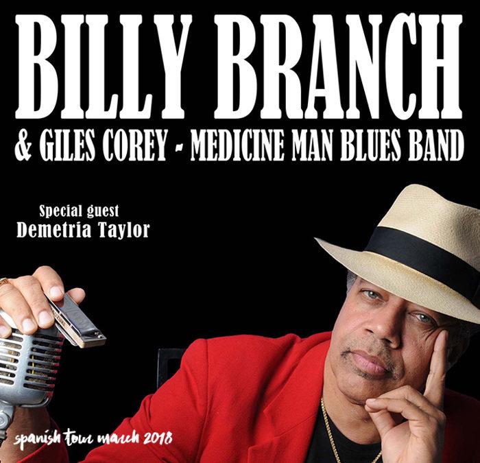 Medicine Man acompañará a BILLY BRANCH en sus conciertos en España