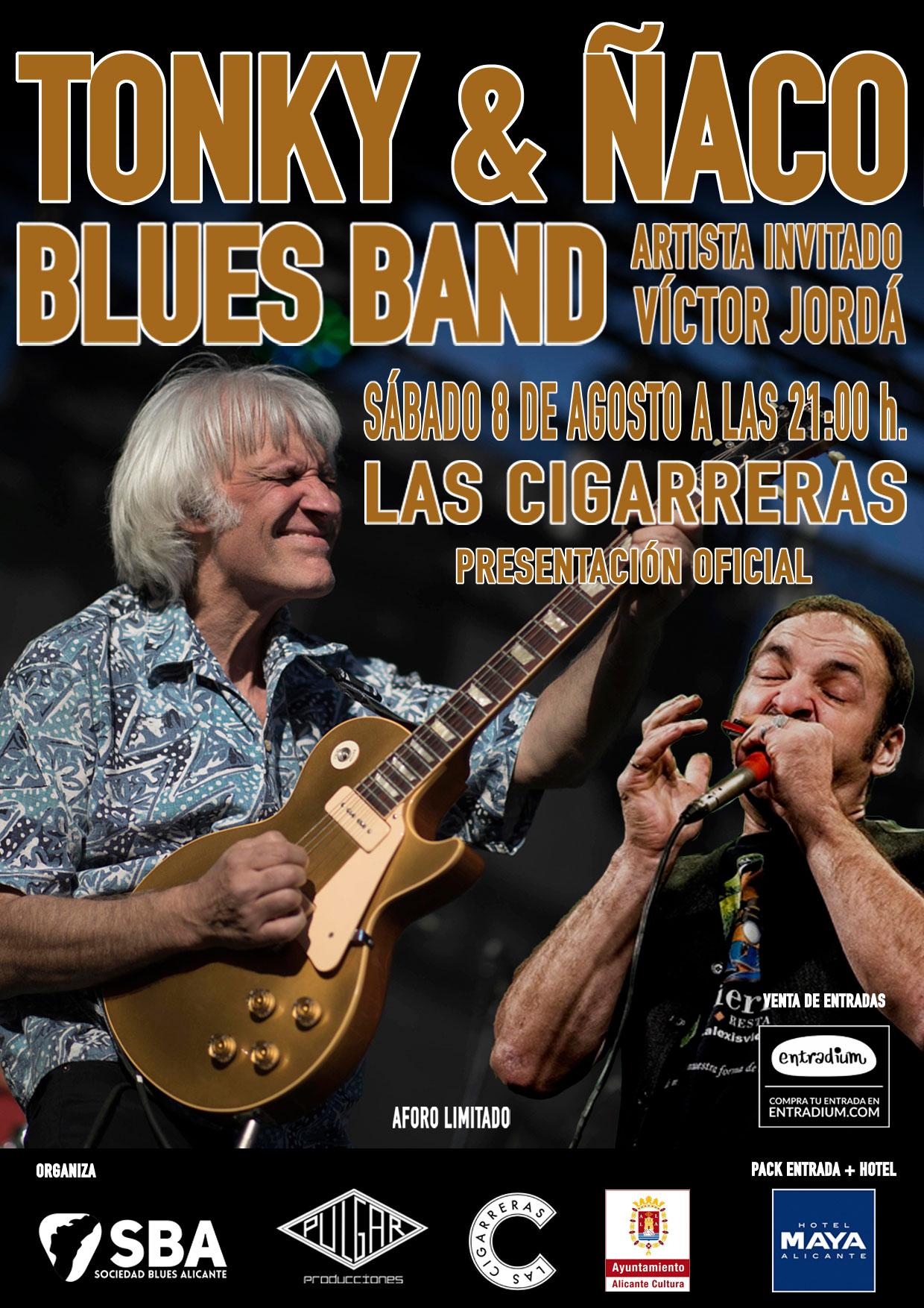 Tonky & Ñaco Blues Band Presentación Alicante